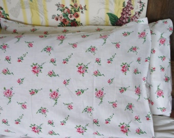 vintage rose print pillow case 26x16 inchesRESERVED TESS