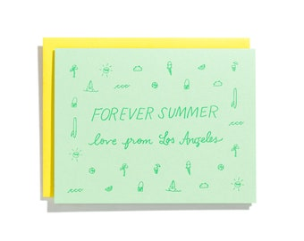 Forever Summer - Letterpress Love Card - CL237