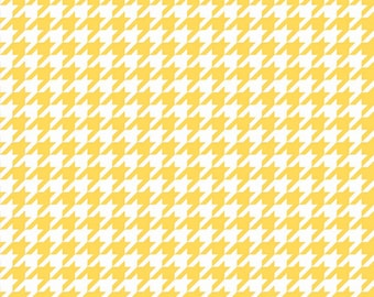 "End of Bolt - 2 yards + 26"" left ** Medium Houndstooth Yellow C970-50 YELLOW Riley Blake Designs"