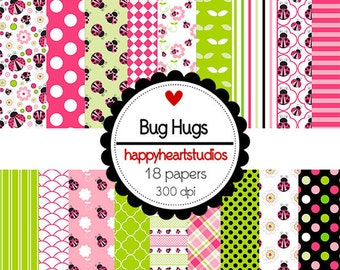 DigitalScrapbooking BugHugs -InstantDownload