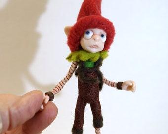 ooak poseable Cricket the HOUSE ELF  ( #25 ) polymer clay art doll by DinkyDarlings  pixie fairy angel