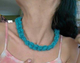 Puff Stitch Crochet Necklace