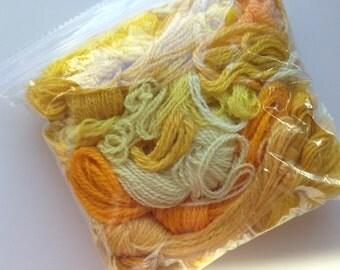 YELLOW and GOLD Craft WOOL Mix/Needlecraft Wool/Yellow Yarn Mix/Fiber Supplies/Needlecraft Supplies/Craft Supplies