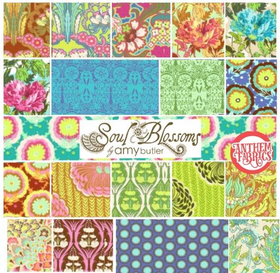 Soul Blossoms by Amy Butler - Fat quarter bundle of 19