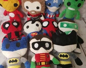 "11"" Superhero plush"