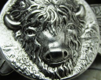 Buffalo Hair Clips Bison Barrette Thick hair clips silver simple Art Deco style Hair Accessories Thick Hair French Barrette