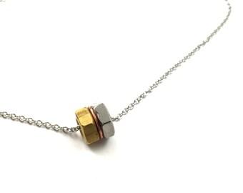 Choker Necklace Pendant Industrial Hardware Jewelry