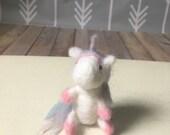 Needle felted unicorn - unicorn photography prop