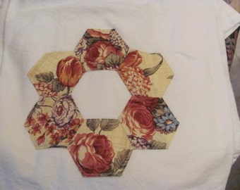 Paper Piecing Patterned Hand Towel, Kitchen Towel