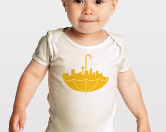Umbrella Seattle — Organic Cotton Baby One Piece