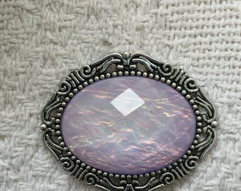 Lavender Ice Magnetic Brooch, Shawl Pin, Sweater Clasp