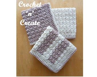 Cotton Dishcloth Crochet Pattern (DOWNLOAD) CNC19