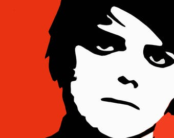 Gerard Way My Chemical Romance Wall Art Pop Art Print Poster
