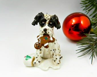 Brittany Liver Christmas Ornament Figurine Santas Cookie Porcelain