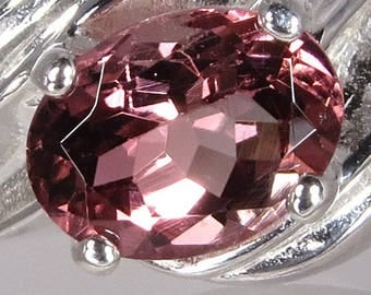 Natural Pink Multi Color Tourmaline 1.25 ct Handset in Sterling Ring  -  NOW on SALE  -  Fast Free Shipping with gift wrap