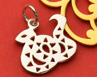 The Snake Necklace - Solid 925 Sterling Silver Chinese Zodiac Year of the Snake Charm - Insurance Included