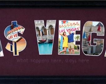 Las Vegas Custom Photo Collage 8x26 (mat only)
