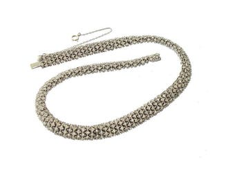 Vintage High End Designer Necklace, Ciner Unsigned 1930 Vintage Rhinestone Choker, Fine Vintage Wedding Jewelry, Vintage Rhinestone Jewelry
