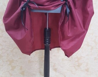 SALE Burgundy Wine Red Knee Length Bustle Skirt-One Size Fits All