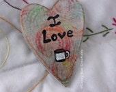 I love coffee small heart wall art valentines day love heart