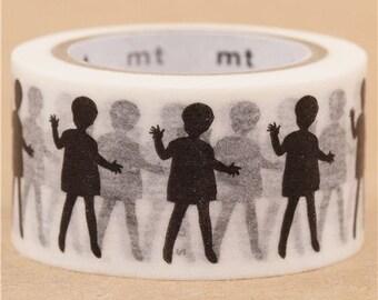 193848 mt Washi Masking Tape deco tape children black and white