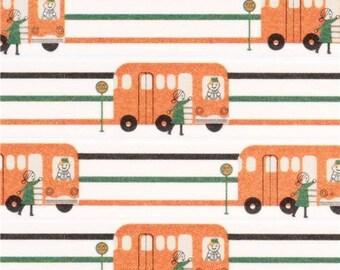 202289 white bus Washi Masking Tape deco tape Shinzi Katoh Japan