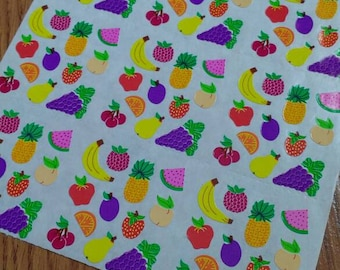 108 Vintage Discontinued Sandylion Fruit Stickers