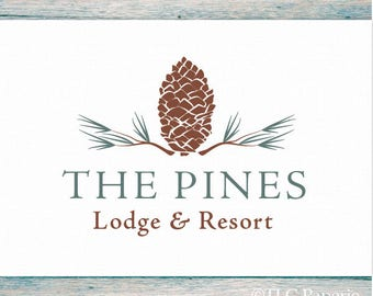Pine Cone Logo, Pine Tree Logo,  Pine Needles Logo, Forest Logo, Custom Logo Design