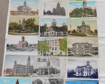 19- Vintage Indiana County Court House Postcards