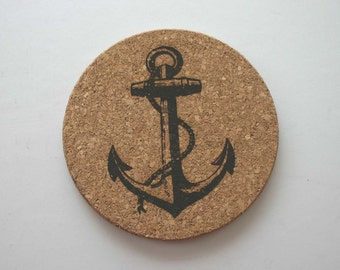 Anchor Cork Trivet Sailing Coaster Boat Anchor