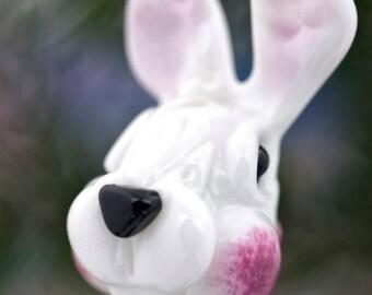 Raquel... lampwork bunny rabbit face bead...... sra