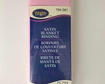 Wrights Satin Blanket Binding - Light Pink - Pink - 4.75 Yards - Binding for Sewing - Brand New - NIP - Ships Quick
