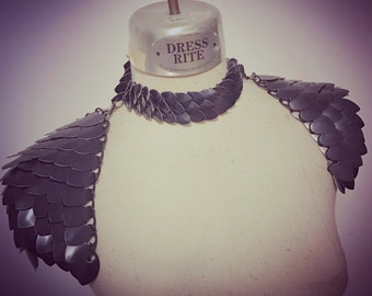 The Night's Watch-Unisex shoulder armor viking transforming scalemaille pauldrons