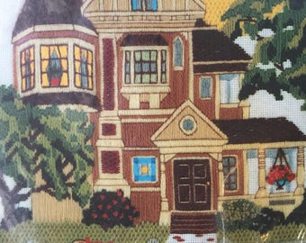 Crewel Picture Kit Victorian House