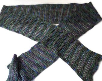 Scarf - Ladies Hand Knit Lace Scarf - Neck Wrap - Casual Wrap