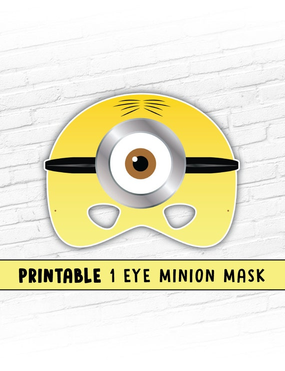 printable minion mask one eye minion cartoon character. Black Bedroom Furniture Sets. Home Design Ideas