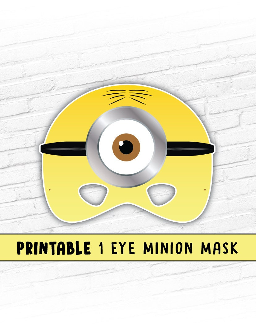 It is an image of Ridiculous Minion Eye Printable
