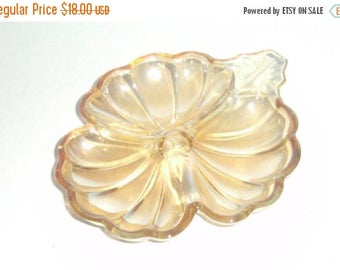 Blow Out Sale Vintage Carnival Glass Dish - Doric Marigold Candy Dish - Vintage Candy Dish - Carnival Glass Candy Dish - Collectible Carniva