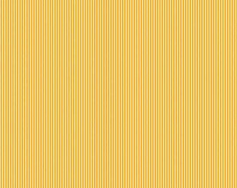 Riley Blake Yellow Striped Fabric, Yellow and White Striped Cotton Fabric