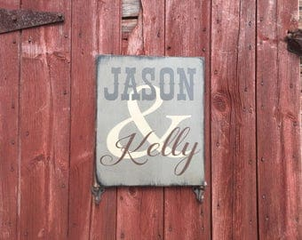 PRiMiTivE Couple's Signs - Personalized with First Names