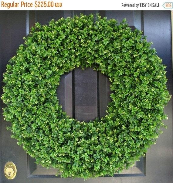 SPRING WREATH SALE 28 Inch Xxl Artificial Boxwood Wreath, Oversized Wreath, Mantle Decor, Church Decor, Church Decoration, Wedding Wreath, S