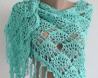 SPECIAL SALE, Spring Garden mohair  Shawl  - Expres Delivery