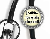 Mustache Stethoscope ID Tag - Nursing Student, Rn, Gifts for Nurses, Doctor Gift, Med Student, Graduation Gift, Stethoscope Access