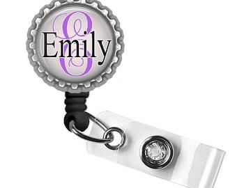 Personalized ID Badge Holder (Blk n Purple) - Nursing Student, Gifts for Nurses, Graduation Gift, Thank You Gift, Nurse Lanyard, B