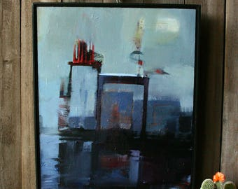 Original Painting Oil on Canvas Abstract Still Life Painting By Bobbie Jansen on Etsy