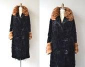 Tamblyn House coat | vintage 1920s coat | sheared beaver 20s coat