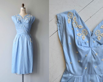 May Day dress | vintage 1950s dress | cotton 50s dress