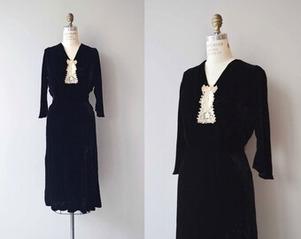 Secret Keeper dress | vintage 1930s dress | silk velvet 30s dress