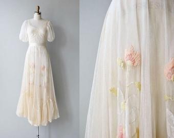 Ethereal Charm dress | vintage 1930s dress | long 30s dress
