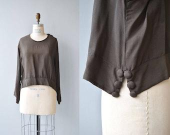 Poet's Circle blouse | silk tunic blouse | vintage 1920s silk blouse | silk 20s tunic